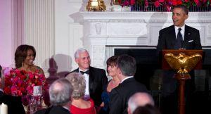 Barack Obama, Michelle Obama, Mike Pence