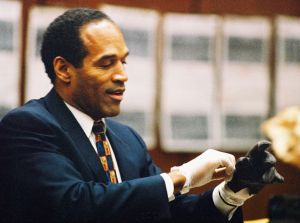 OJ Simpson Criminal Trial - Simpson Tries on Blood Stained Gloves - June 15, 1995
