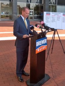 GOP Mayor candidate Chuck Brewer