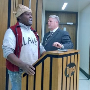 Black activist thrown out of IPS meeting