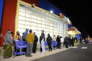 Lining up for Black Friday shopping- Fairfax, VA