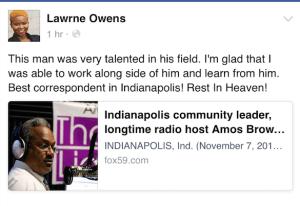 Lawrne Owens on Amos
