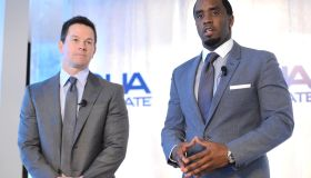 Sean 'Diddy' Combs And Mark Wahlberg Host Press Conference To Announce Their Newest Venture, Water Brand AQUAhydrate