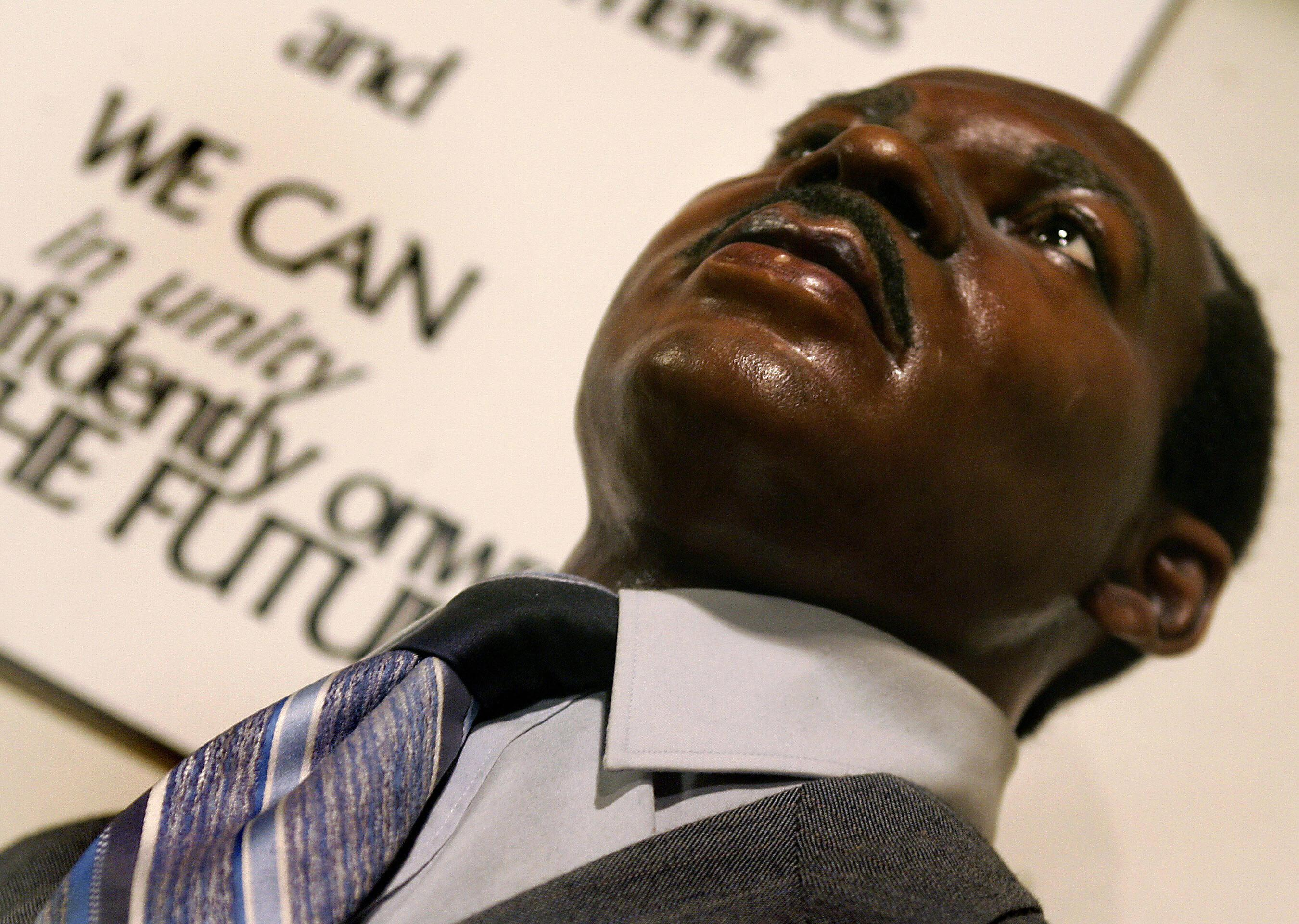 A wax figure of Dr. Martin Luther King Jr.