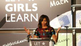 First Lady Michelle Obama Celebrates International Women's Day At DC's Union Market