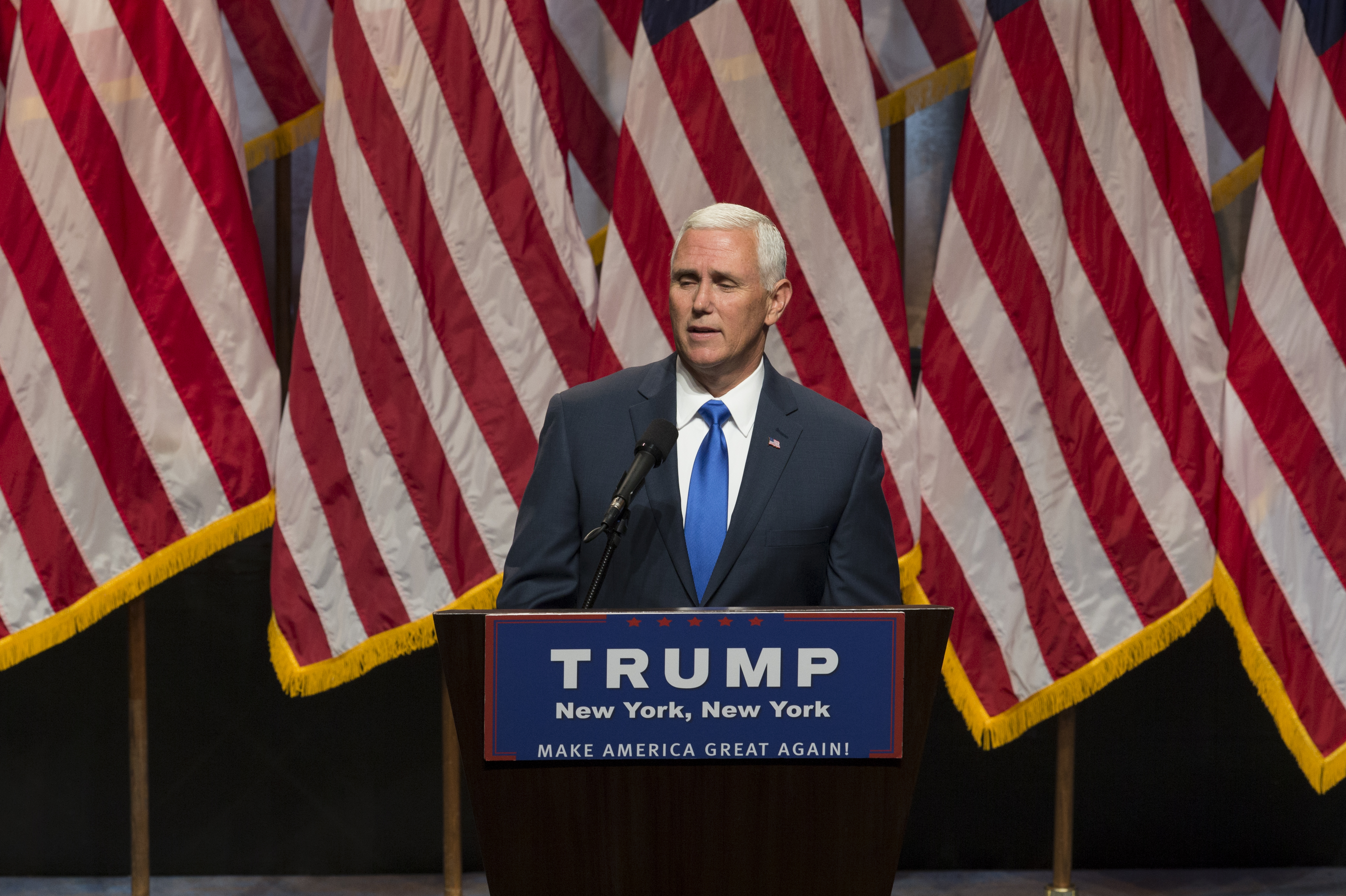Mike Pence speaks during Donald Trump introduction Governor...