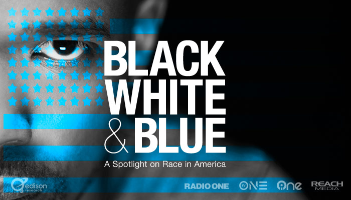 Black White Blue