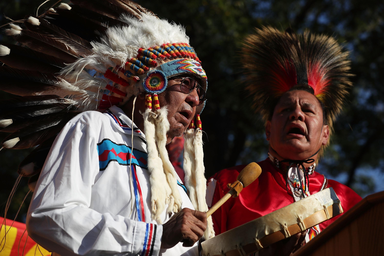 Sen. Bernie Sanders Leads Rally Against The Dakota Access Pipeline