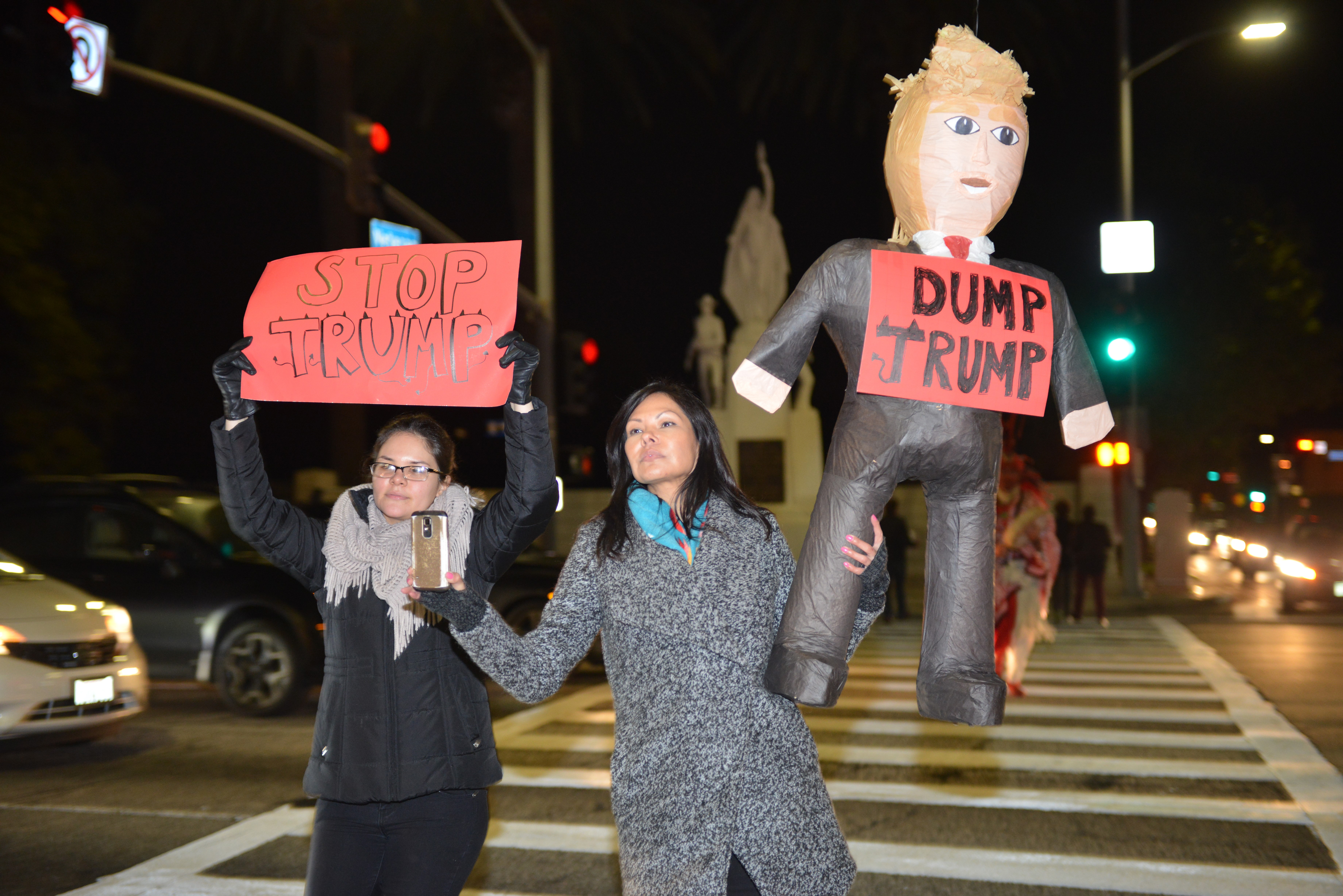 noDAPL and Anti Trump protest in Los Angeles