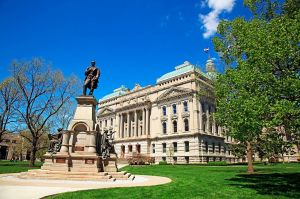 State capitol building in Indianapolis Indiana